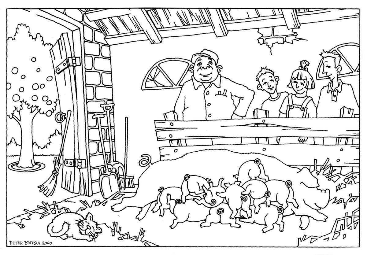 Kleurplaten Printen Tractor Kinderboerderij Enschede Noord